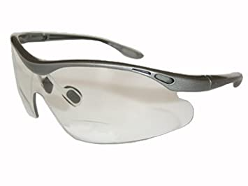 a219106f93a2 Image Unavailable. Image not available for. Colour   RACER - GREY  - CYCLING  SPORTS BIFOCAL GLASSES.Power +2.00