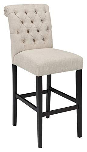 - Ashley Furniture Signature Design - Tripton Tall Upholstered Barstool - Set of 2 - Casual Style - Tan