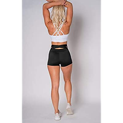 Kamo Fitness High Waist Athletic Yoga Shorts Tummy Control Workout Running: Clothing