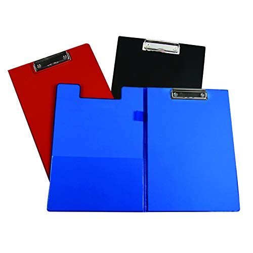 C-Line Products CLI30600BN Clipboard Folder, Pack of 6, Black/Red/Blue