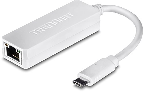 TRENDnet USB Type-C to Gigabit Ethernet LAN Wired Network Adapter for Windows & Mac, Compatible with Windows 10, and Mac OS X 10.6 and Above, Energy Saving, 5 inch length, TUC-ETG ()