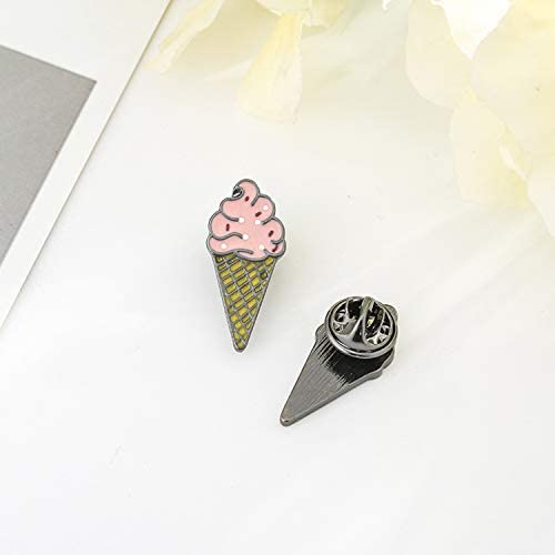 Ginooars Pack of 10 Cartoon Ice Cream Cone Enamel Brooches Set Pins Badge for Clothing//Bags//Backpacks//Hats//Jacket