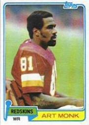 1981 Topps Football Rookie Card #194 Art Monk Mint