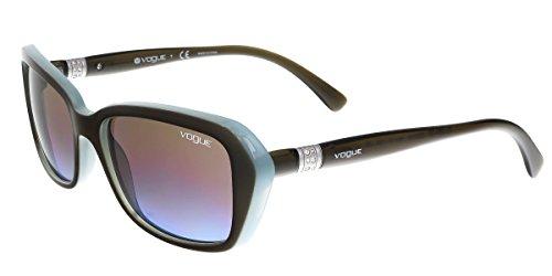 Vogue VO2964SB Sunglasses 232248-55 - Mud Green/Opal Azure Frame, Azure Gradient Pink - For Men Vogue Eyewear