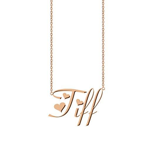 ZAloha Personalized Custom Name Necklace - Initial Style Pendant Tiffany