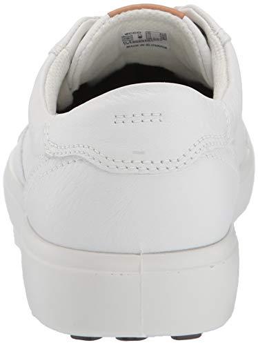 ECCO Men's Soft 7 Long Lace Sneaker, White, 47 M EU (13-13.5 US)