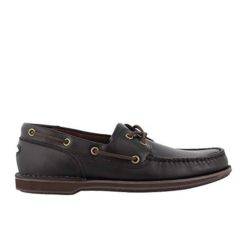 Rockport Men's Perth Boat Shoe Dark Brown 11 2E US