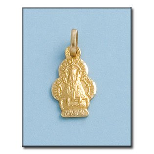 Médaille D'or 18kt Vierge De La Cabeza Silueta