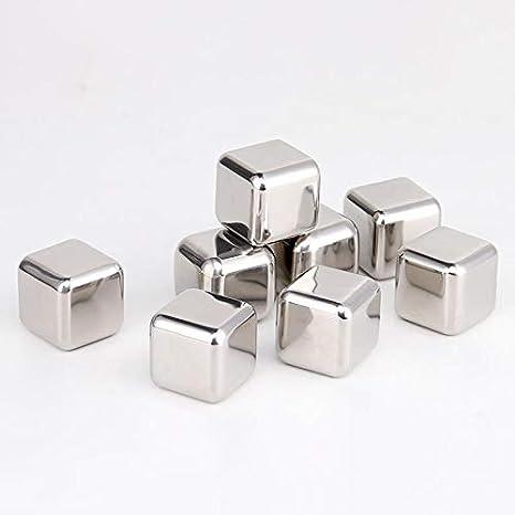 Compra Acero inoxidable Cubitos de hielo Metal congelado ...