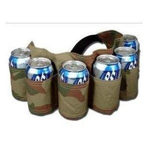 6 Pack Beer & Soda Can Holster Belt - Camoflauge (Belt Camoflauge)