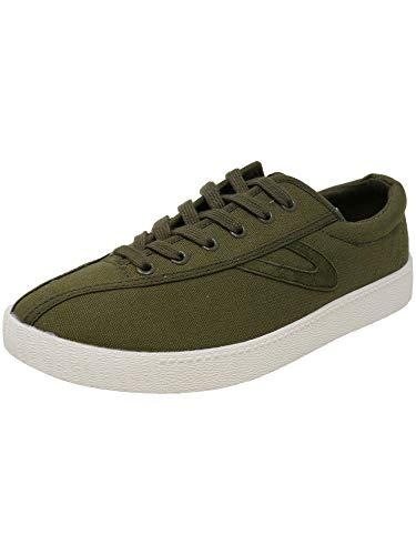 Tretorn Men's NYLITEPLUS Sneaker, Olive Canvas, 8.5 M US