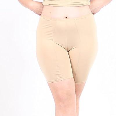 Undersummers Classic Shortlette: Rash Guard Slip Shorts, Plus Size