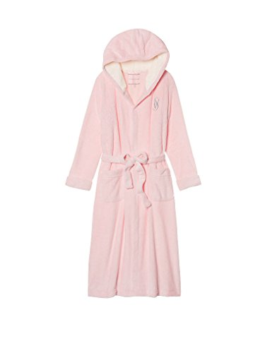 44b2ca6b18 Victoria s Secret The Cozy Hooded Long Robe Medium Angel Pink