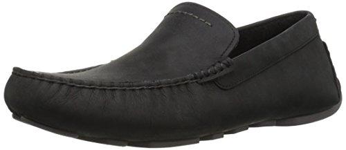UGG Men's Henrick Slip-On Loafer, Black, 10 M US