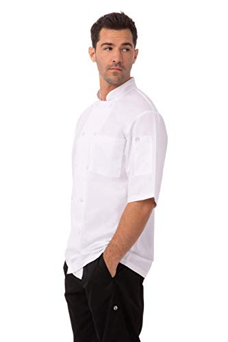 Chef Works Men's Montreal Cool Vent Chef Coat, White, Large