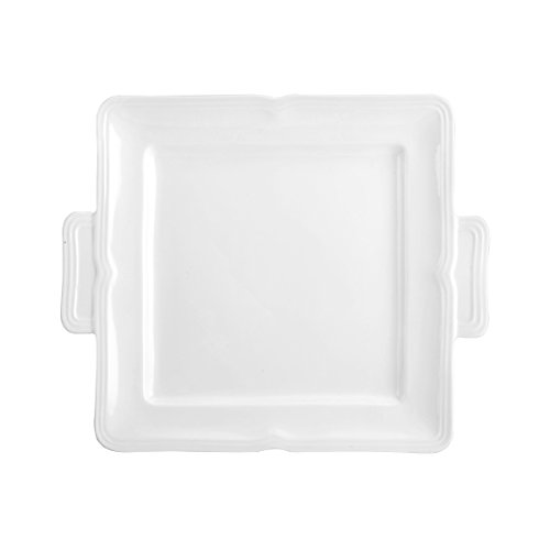 Mikasa Antique White Square Dessert Serving Tray, - Mikasa Platter White