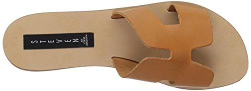 Steve Madden Women's Greece Flat Sandal Cognac Leather UgTgtf