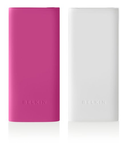Belkin 2-Pack Silicone Sleeve Case for iPod nano 4G (Pink/Translucent White) (Belkin Pink Silicone Sleeve)