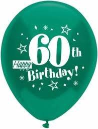 Amazon Happy 60th Birthday Balloons