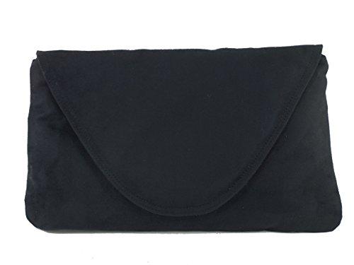 Wedding Occasion Black Bag Loni Shoulder Bag Suede Party Bag Womens Clutch Large Faux Attractive SZ6qfU