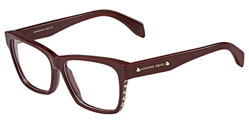 Alexander McQueen AMQ 4265 LHF Burgundy Rectangle ()