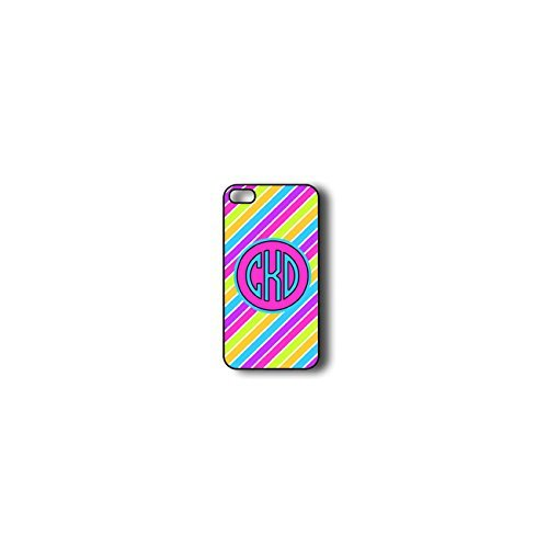 Krezy Case Monogram iPhone 4s Case, Colorful stripes Pattern Monogram iPhone 4s Case, Monogram iPhone 4s Case,...