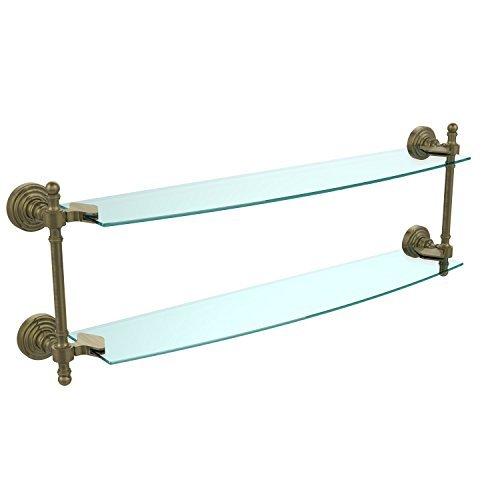 Allied Polished Shelf - Allied Brass RW-34/24-VB 24 x 5 Double Glass Shelf Polished Chrome by Allied Brass