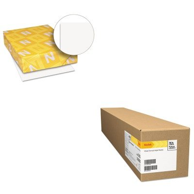 KITBMGKPRO36LWAU40411 - Value Kit - Kodak Professional Inkjet Photo Paper Roll (BMGKPRO36L) and Neenah Paper Exact Index Card Stock (WAU40411) by Kodak