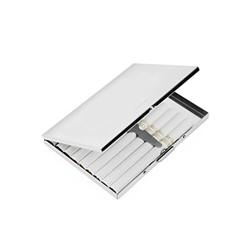 Silver Stainless Steel Extra Slim Cigarette Case(SM176)