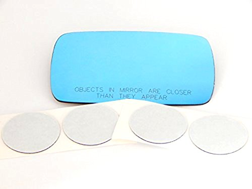 84-05 Bmw 3 Series All Except ci Models Right Passenger Heated Convex Mirror Blue Glass Lens w/Adhesive USA