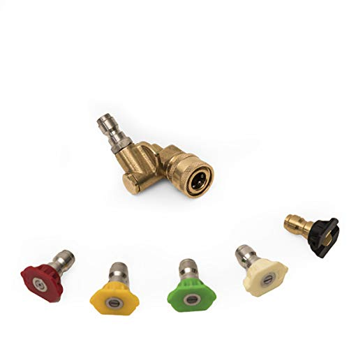 High Pressure Washer Nozzle Tips Wand Pivot Coupler Gun Powe