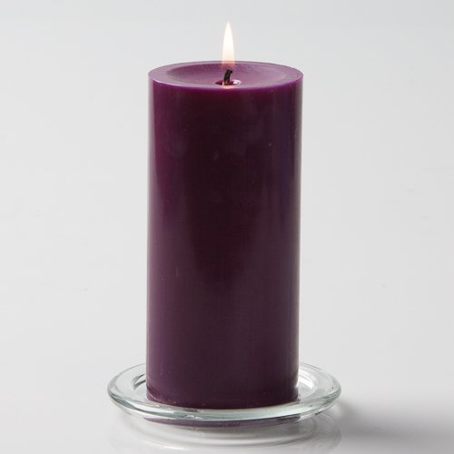 Richland 3'' X 6'' Hand Poured Purple Pillar Candle Set of 24 by Richland
