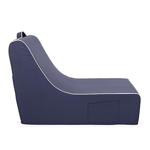 PopLounge Expandable Foam Furniture Coast Lounger, Crown Blue Navy, 23'' x 40'' x 26'' by PopLounge (Image #3)