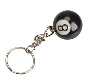Billiard Kugel Schlüsselanhänger die schwarze 8 Snooker