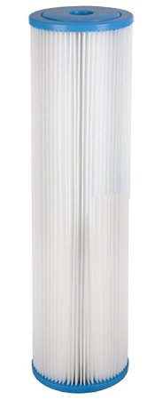 Hydronix SPC-45-2050 Polyester Pleated Filter 4.5'' OD X 20'' Length, 50 Micron