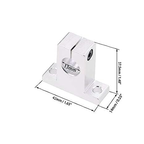 uxcell 13mm Shaft Support SK13 Linear Motion Slide Rail Guide Blocks for CNC 3D Printer 2pcs