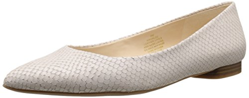 Leather White Off Ballet de Nine cuero West Onlee plano qSHwUS