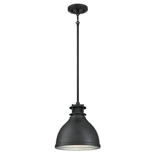 westinghouse-6326800-one-light-indoor-pendant-matte-brushed-gun-metal-finish-with-mesh-detail
