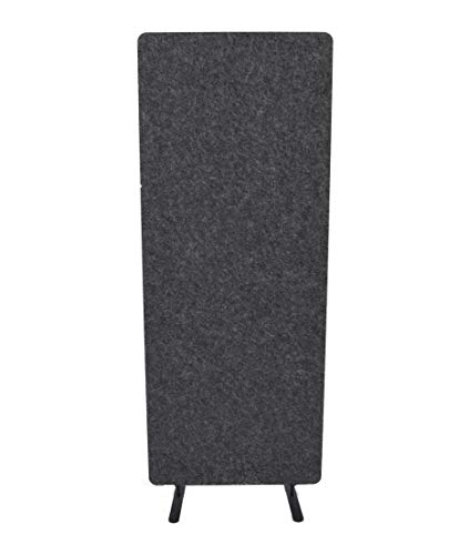 "ReFocus Raw Freestanding Acoustic Room Divider - Reduce Noise and Visual Distractions with This Lightweight Room Separator (Ash Gray, 24"" X 62"")"