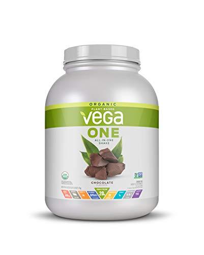 Vega One Organic Meal Replacement Plant Based Protein Powder, Chocolate – Vegan, Vegetarian, Gluten Free, Dairy Free…