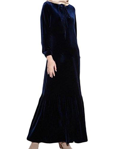 Coolred-femmes Couleur Pure Drapée Maxi Arab Surdimensionné Motif1 Robe De Soirée De Plage