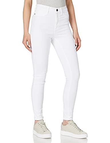 Noisy May NOS DE Damen NMCALLIE HW Skinny BW BG NOOS Jeans, Bright White, 26/30