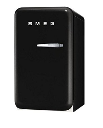 Smeg FAB5ULNE 50's Retro Style Aesthetic Mini Refrigerator with Left Hinge, Black (Smeg Fridge Mini compare prices)
