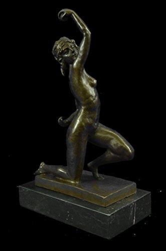 "Signed Original English Artist Thomas Nude Woman Sport Arena Bronze Sculpture... 10""x6"" 7 LBS."