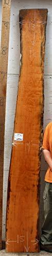 Natural Cherry Live Edge Custom Mantel Wood Slab Floating Shelf Wooden Furniture DIY Bench Top Raw 6528s2
