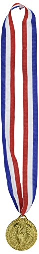 Gold Medal w/Ribbon Party Accessory (1 count) (1/Pkg) ()