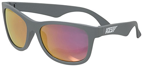 Aces fueled by Babiators Boys Aces Navigator Sunglasses, Galactic Gray with Pink Lenses, One Size - Size Sunglasses 6