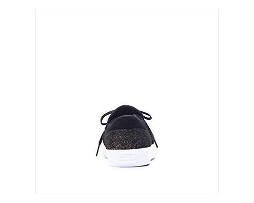 Chaussures Femme Supra Cuba Noir-Or-Blanc