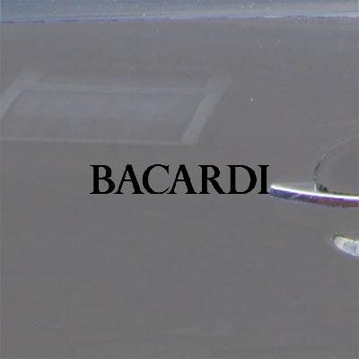 Bacardi Big Apple - Art Adhesive Vinyl Decal Vinyl Car Window Vintage Black Notebook Car Laptop Macbook Auto Bacardi Bike