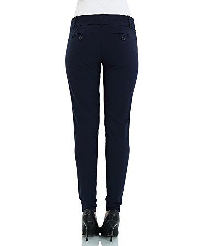 SATINATO Slim Fit Mujer Pantalones Ceñidos Skinny De Vestir Elegantes Oficina Profesional Marino